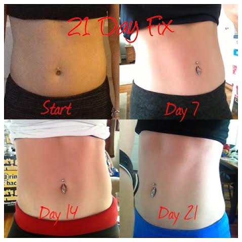 My results from my very first round of the 21 Day Fix.