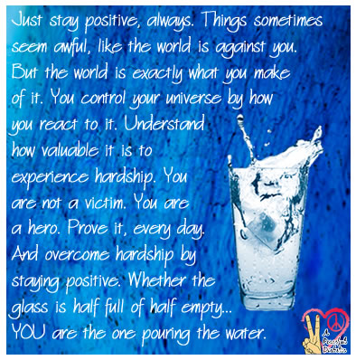 You are the one pouring the water