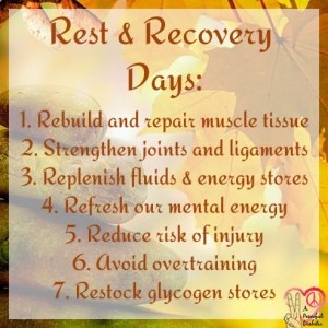 rest and recovery days