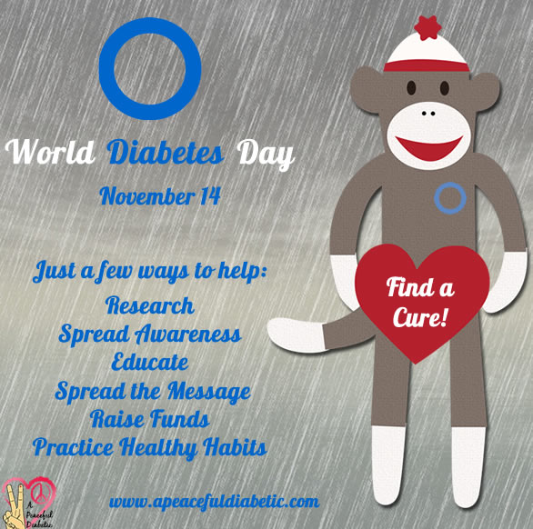 World Diabetes Day - Find a Cure with Sock Monkey