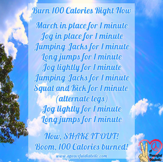 Burn 100 Calories right now