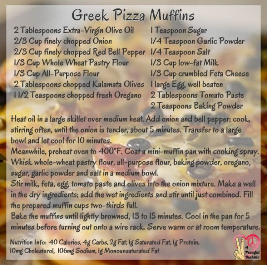 Greek Pizza Muffins