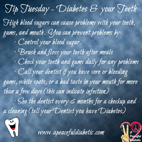 Tip Tuesday - Diabetes and your Teeth