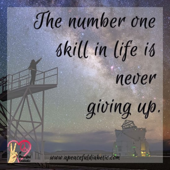 number one skill - never giving up