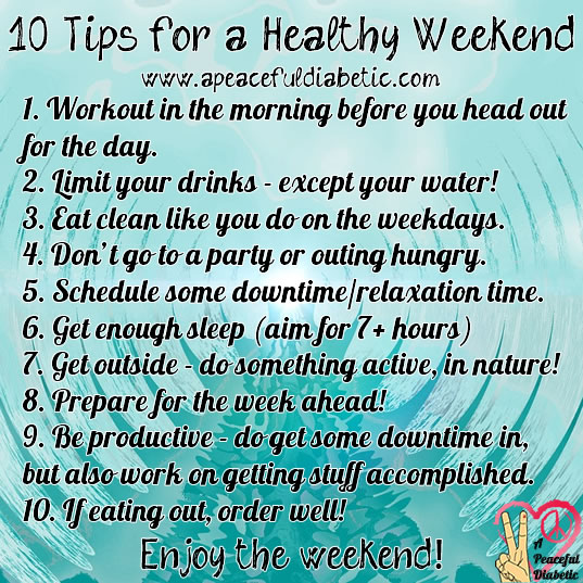 10 Tips for a Healthy Weekend