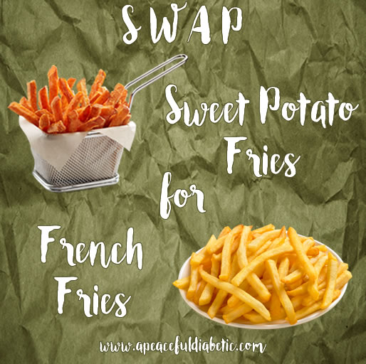 food swap - sweet potato vs french fries
