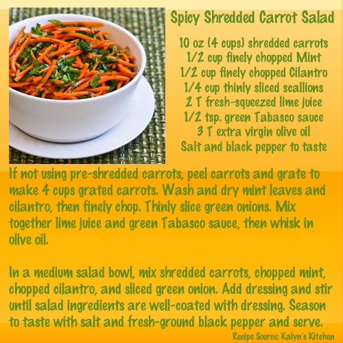Spicy Shredded Carrot Salad