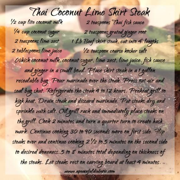 Thai Coconut Lime Skirt Steak