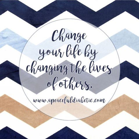 change your life by changing the lives of others