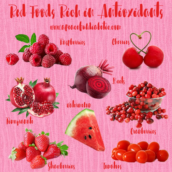 Red Foods Rich in Antioxidants