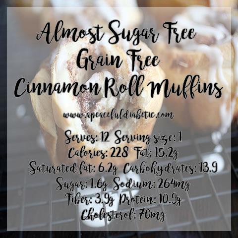Almost sugar free cinnamon roll muffins