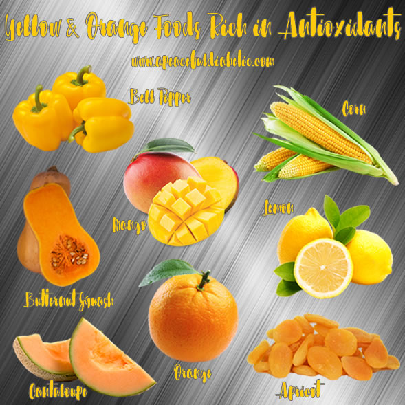 Yellow and Orange Foods Rich in Antioxidants